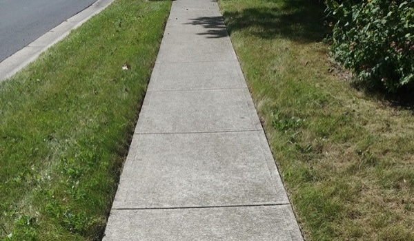 after edging sidewalk